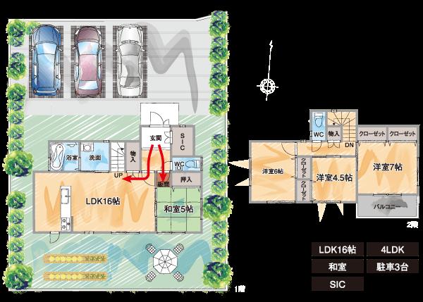 53号地×Aプラン インディペンデント間取り図